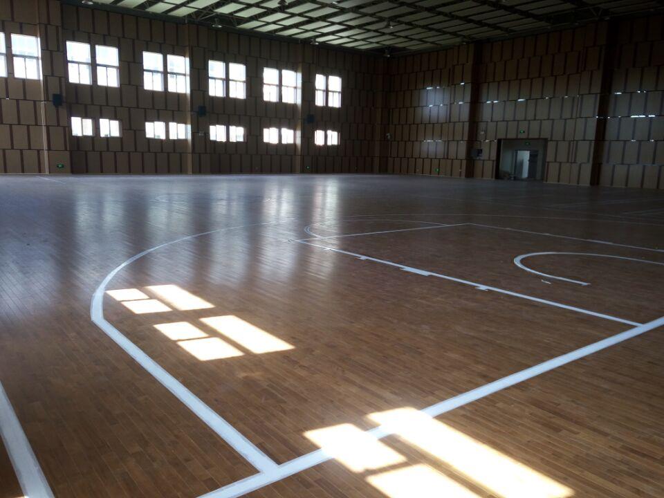 篮球木地板-湖南长沙市大同瑞致小学运动馆铺设案例