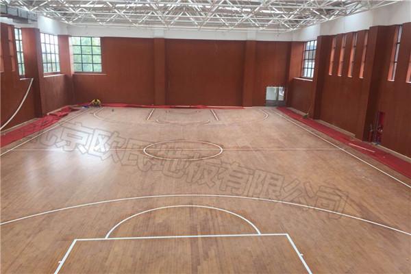 篮球木地板--上海市金山区张堰小学综合楼成功案例